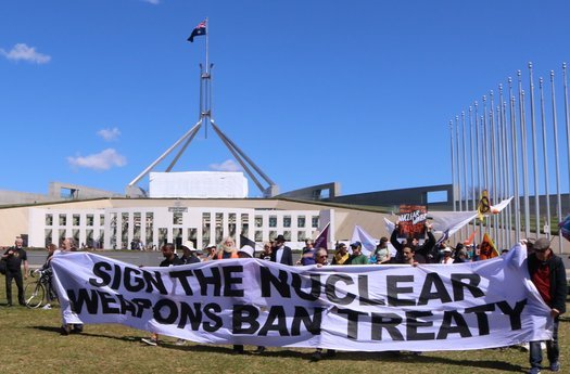 image of Australia: join the nuclear weapon ban treaty